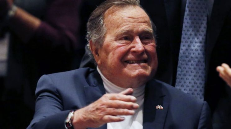 George H.W. Bush hospitalized.