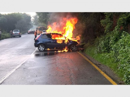 This morning's accident on Christiaan de Wet Road. (Photos: Supplied)