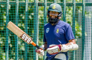 Hashim Amla is still a happy camper and keen to play Test cricket. Photo: Sydney Seshibedi/Gallo Images.