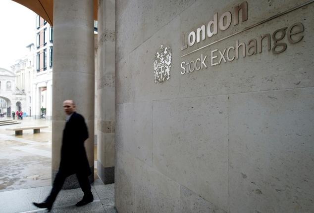 London stock exchange hits record high.