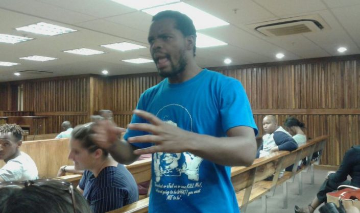 Former Wits SRC president and Fees Must Fall activist Mcebo Dlamini.
