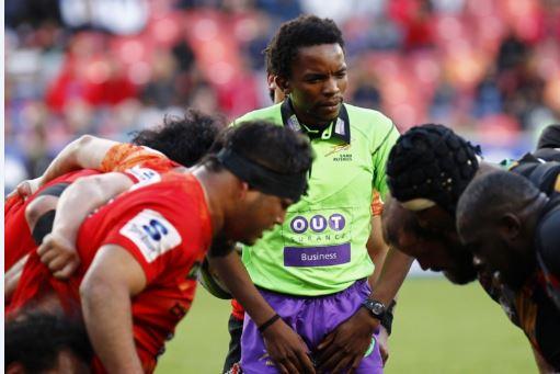 Rasta Rasivhenge, SA's top ref, won't have to preside over uncontested scrums anymore. Photo: Richard  Huggard/Gallo Images.
