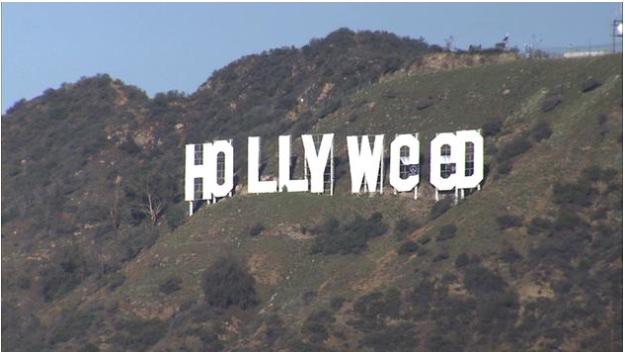 Hollywood sign vandalised.