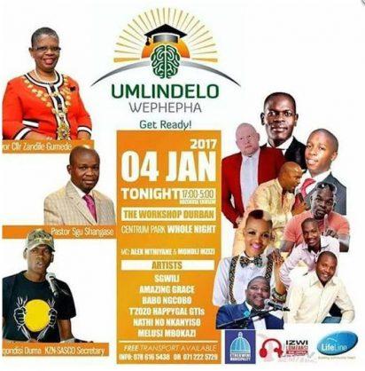 Poster of eThekwini Municipality's matric night vigil (Pic: Facebook)