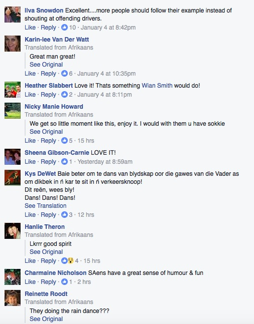 Comments on Sean Badenhorst's Facebook post. Picture: Facebook