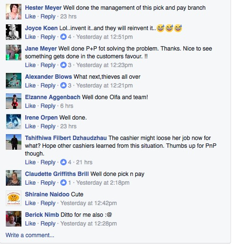 A screenshot of the comments on the News, Accidents, Robberies & Incidents Facebook page. Picture: Facebook