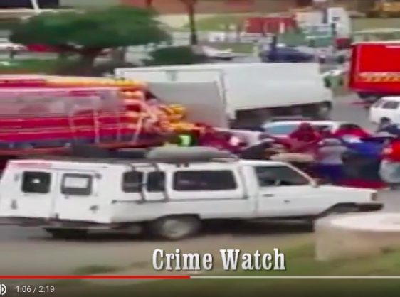 A screenshot of the footage from the video posted by SA Crime Watch on YouTube. Picture: SA Crime Watch on YouTube