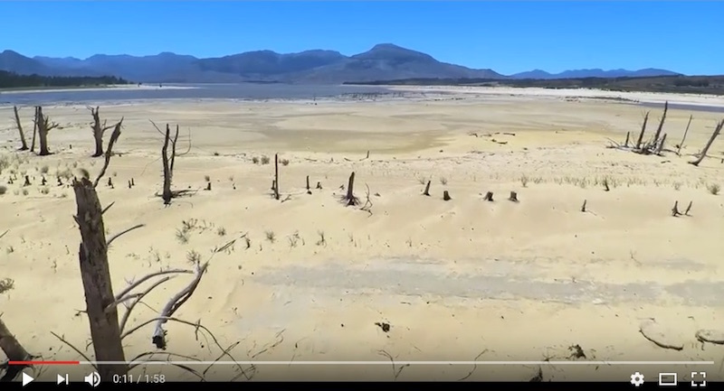 A screenshot of the video of the Theewaterskloof Dam. Picture: YouTube