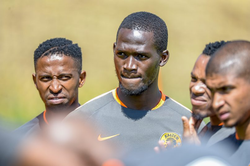 William Twala (L) and Siphelele Mthembu (C) during the Kaizer Chiefs Media Open Day at Naturena . (Photo by Sydney Seshibedi/Gallo Images)