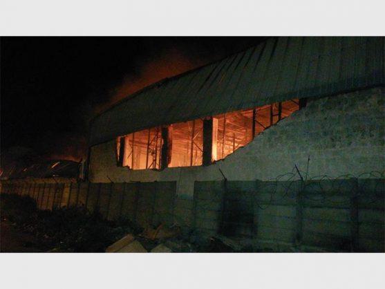 Monarch Travel Goods's factory burnt down.