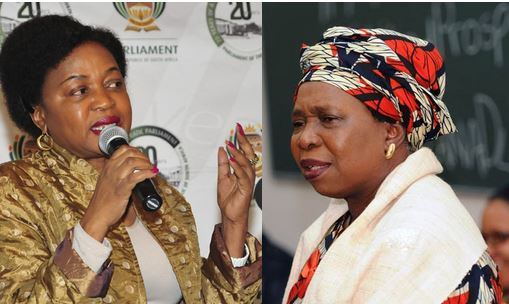 ANC chairperson Baleka Mbete and AU Chair Nkosazana Dlamini Zuma.