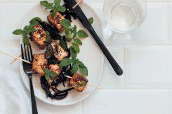 Recipe: Smoky mushroom 'bacon' and spiced tofu skewers
