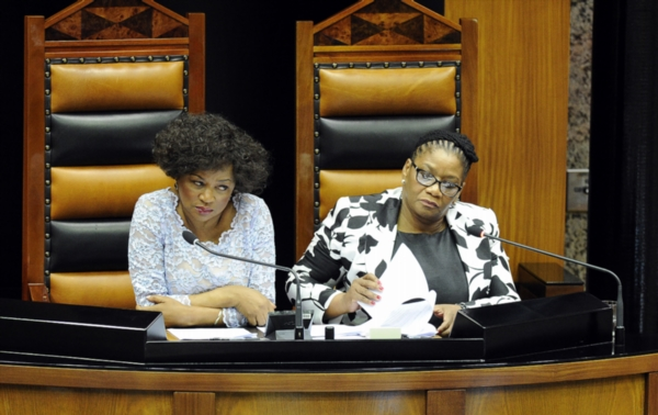 Former speaker of the National Assembly Baleka Mbete and her successor Thandi Modise | Gallo Images.