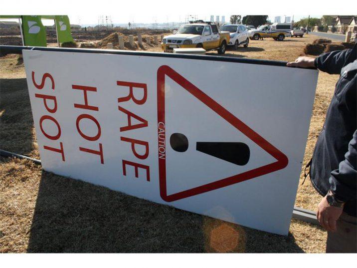 Rape hot spot sign