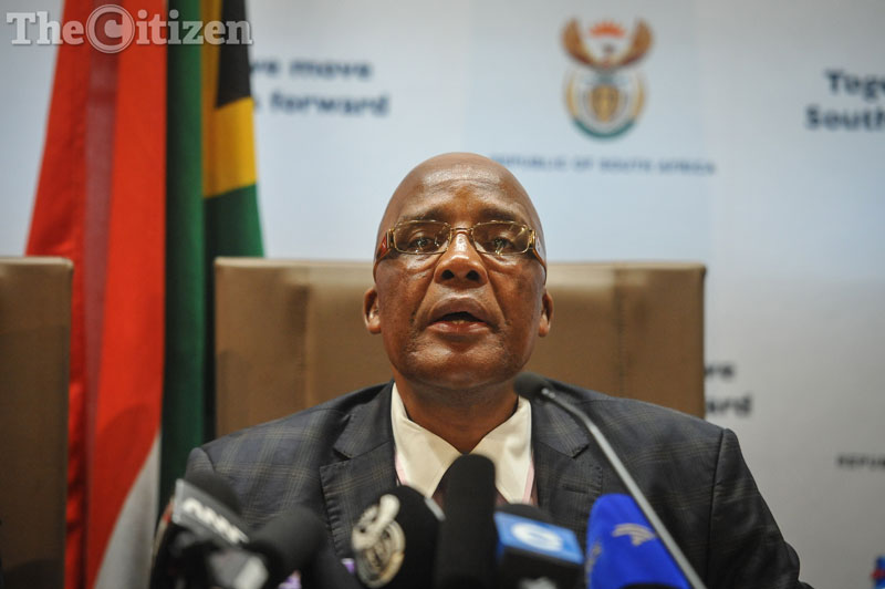 Minister of Health Aaron Motsoaledi during a press briefing at GCIS, 14 February 2017, Pretoria. Picture: Jacques Nelles