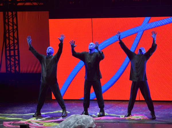 Blue Man Group is comedy, theatre, rock concert and dance party perform at Monte Casino in Johannesburg, 7 February 2017, from Tuesday, 7 February 2017 to Sunday, 5 March 2017.Tickets are selling  from R370 to R680.The acclaimed stage show, best known and recognised for its trio of bald and blue performers.Now approaching their 25th year of creativity, this artistic group is continually updating and refreshing Blue Man shows with new music, fresh stories, custom instruments and state-of-the-art technology. Picture: Nigel Sibanda