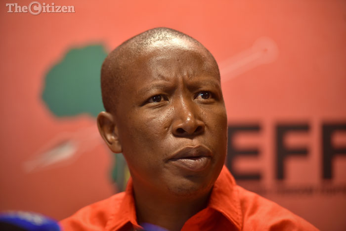 EFF leader Julius Malema is pictured addressing a press briefing at the party's head office in Braamfontein, Johannesburg 14 February 2017. Malema announced that the EFF would no longer be participating in any debate in parliament  regarding President Jacob Zuma's state of the nation address. Picture: Refilwe Modise