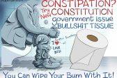 Ghost cartoon: Zuma's toilet paper