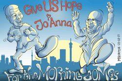 Ghost cartoon: Give us hope, Joanna