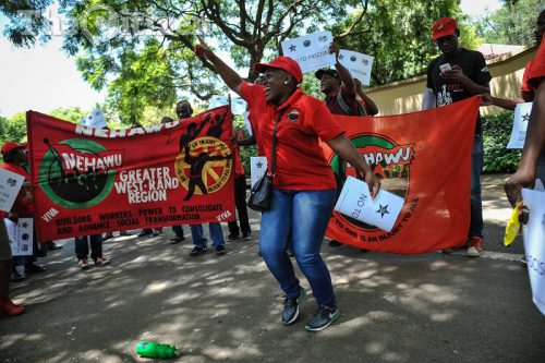 NEHAWU members. Picture: Jacques Nelles