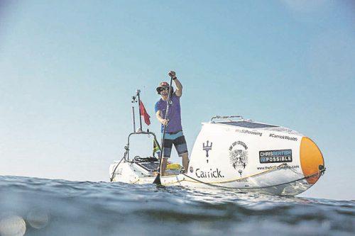 Chris Bertish navigates ImpiFish across the Atlantic. Picture: Supplied