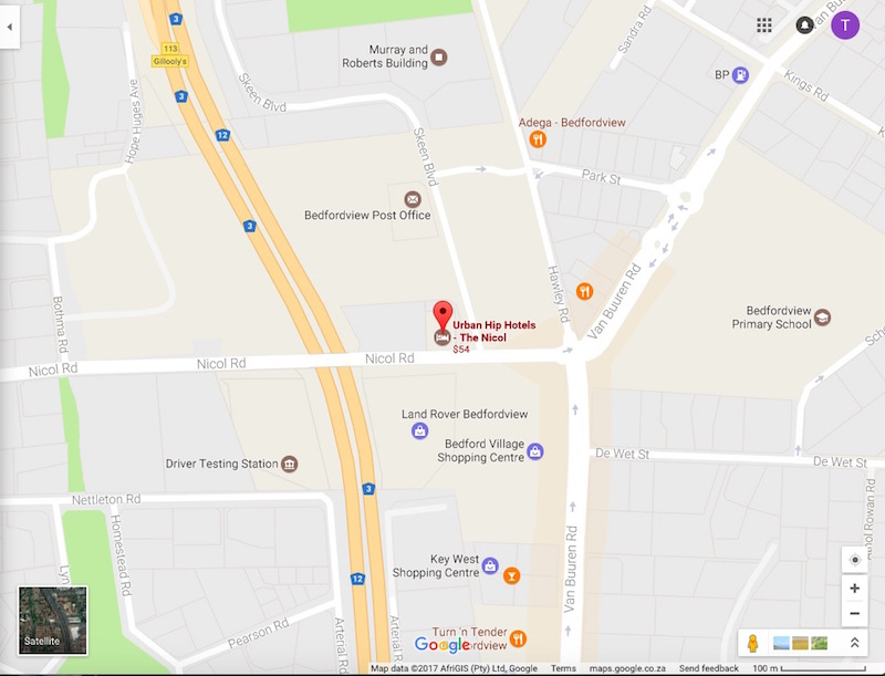 A screenshot of the N3 Highway near the Nicol Hotel in Bedfordview. Picture: Google Maps
