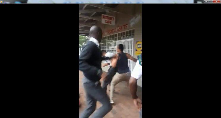 Screen grab for Boskburg High school fight.