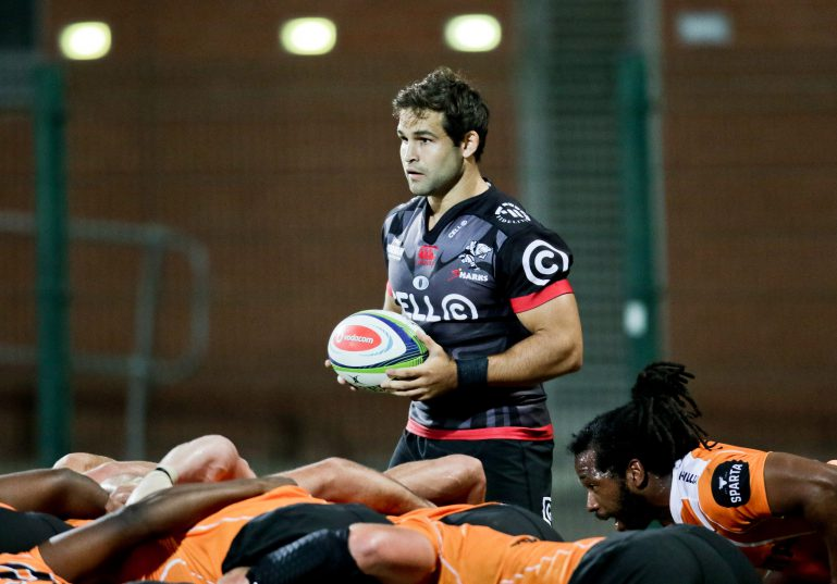 Cobus Reinach in a Sharks jersey is a welcome sight for South African rugby. Photo: Howard Cleland/Gallo Images.