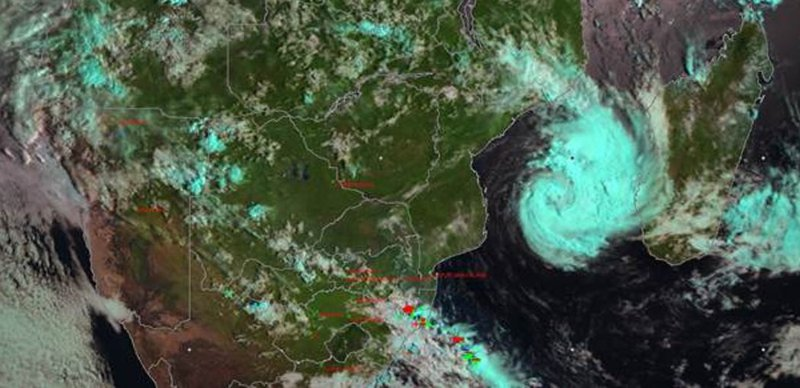 Tropical depression Dineo. Picture: Supplied