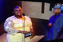 Awkward: Faith Muthambi causes a bit of  a stir at the Metro FM awards