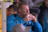 Pie escapade ends in tears for Sutton keeper