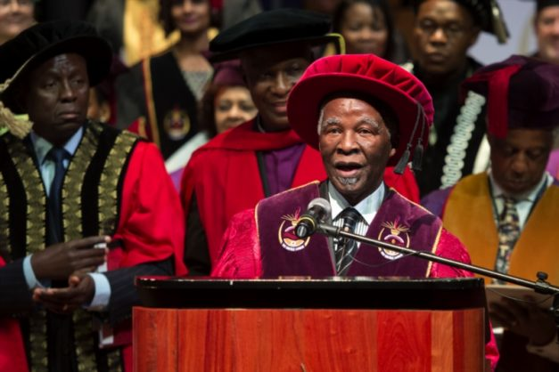 Former President Thabo Mbeki during his inauguration as Chancellor of the University of South Africa (Unisa) on February 29, 2017 in Pretoria, South Africa. (Photo by Gallo Images / Beeld / Deaan Vivier)
