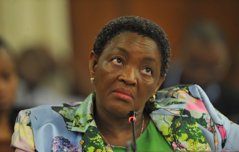 Social Development Minister Bathabile Dlamini appears before Parliament's Standing Committee on Public Accounts (Scopa) on March 07, 2017 in Cape Town. Picture: Gallo Images