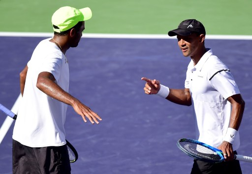 SA's Raven Klaasen (R) and his doubles partner Rajeev Ram are on a roll in Indian Wells. Photo: Harry How/Getty Images/AFP.