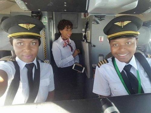 Malawi female pilots make history.