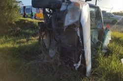 One dead, two injured as bakkie overturns near George