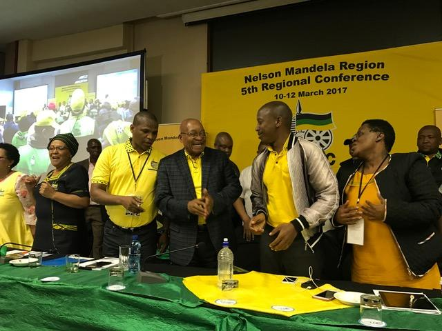 President Jacob Zuma put in an appearance the the ANC's Nelson Mandela Bay regional elective conference in Port Elizabeth on Sunday.