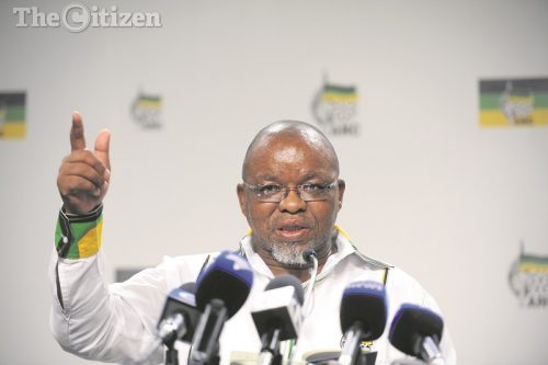 ANC secretary general Gwede Mantashe responds to questions during a press briefing held at the party's headquarters in Johannesburg 27 March 2017. Picture: Refilwe Modise