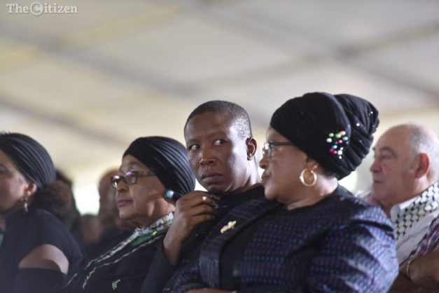 Malema tables motion in parliament for Winnie Mandela airport