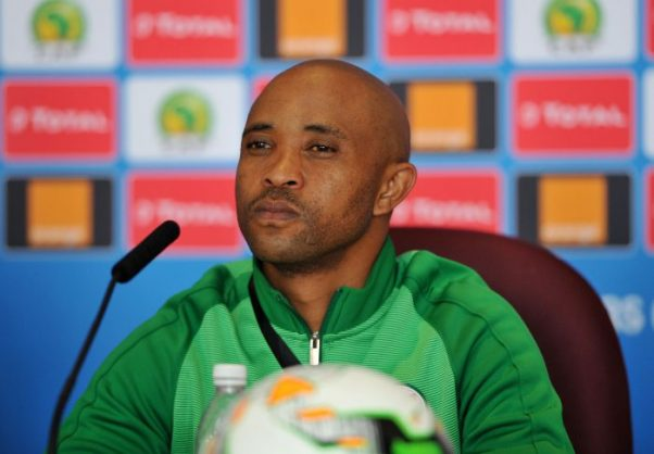 Thabo Senong, coach of South Africa during the 2017 Total Zambia U-20 African Cup of Nations press conference at Heroes National Stadium. (Muzi Ntombela/BackpagePix)