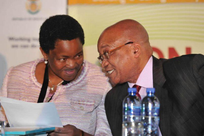 South Africa's Social Development Minister Bathabile Dlamini with President Jacob Zuma. GCIS
