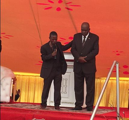 Prophet Paseka Motsoeneg (left) and former Hawks head Lieutenant General Mthandazo Berning Ntlemeza. Picture: Twitter
