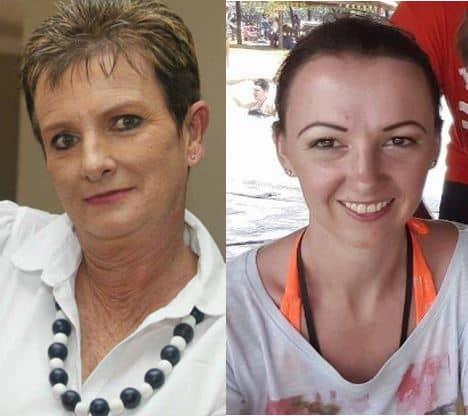 Cheryl Pieterse and Jolynn Hocanin. Photos: Facebook