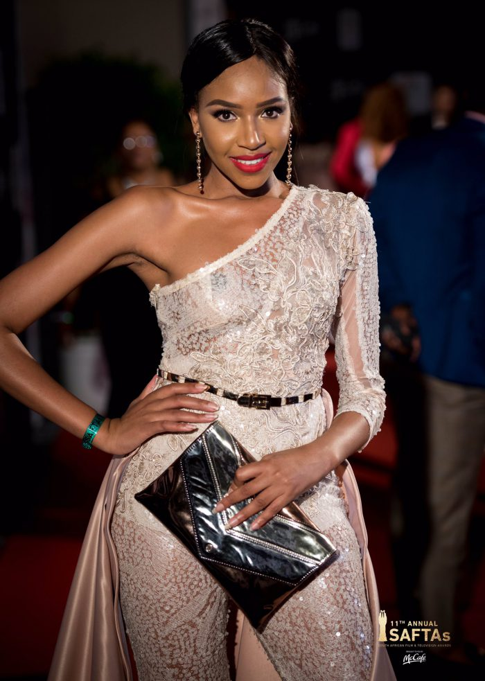 Blue Mbombo at the Saftas. Picture: Saftas.