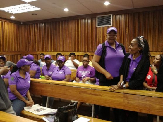 Powa supporters in court during Jon Qwelane trial. Photo: ANA