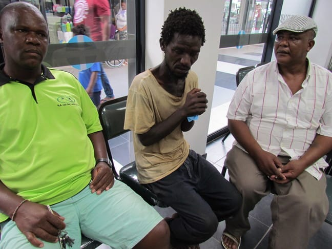 Robert Ngema (left) and Godfrey Louw (right) were instrumental in getting Ntokozo Zulu to Dr Huisamen for treatment for his many bee stings PHOTO: Tamlyn Jolly