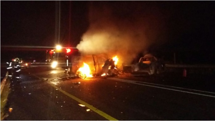 The picture supplied to The Citizen of what is understood to be the aftermath of the accident that claimed the life of Joe Mafela.