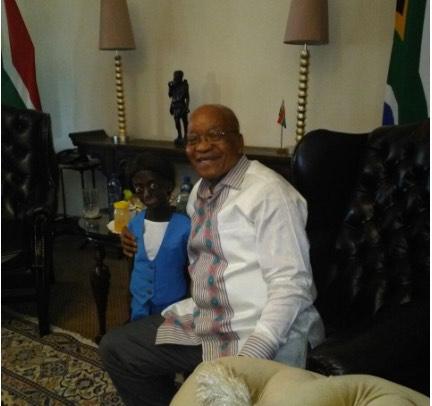 President Zuma with Ontlametse Phalatse.