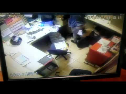 Screen grab of the robbery.