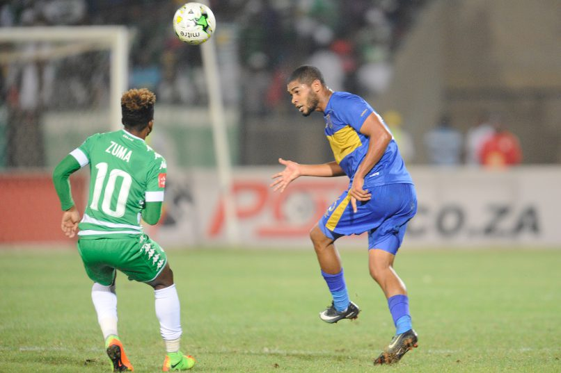 Ebrahim Seedat of Cape Town City FC during the Absa Premiership match between Bloemfontein Celtic and Cape Town City FC at Dr. Molemela Stadium. (Photo by Charle Lombard/Gallo Images)